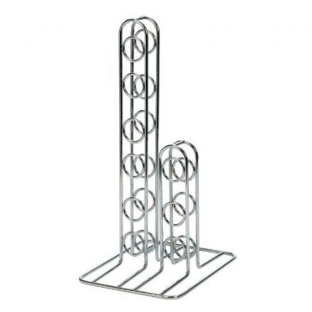 Metal Wine Rack - Silver 9-Bottle
